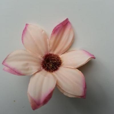 fleur artificielle marguerite en tissu 60mm peche et vieux rose