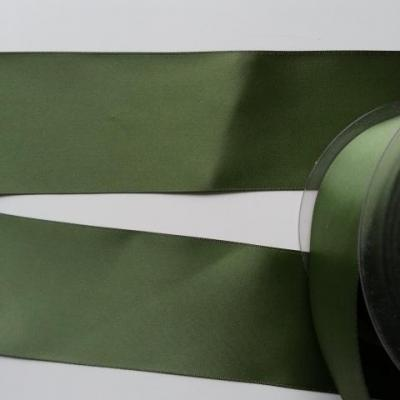 1 metre de ruban  de satin double face vert olive 50 mm