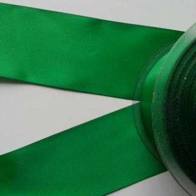 1 metre de ruban  de satin double face vert sapin 50 mm