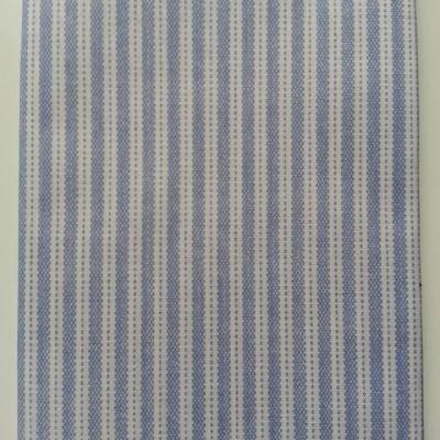 carré de tissu rayé bleu et blanc 48*48cm
