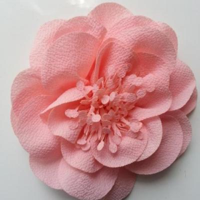grande fleur mousseline 10cm peche