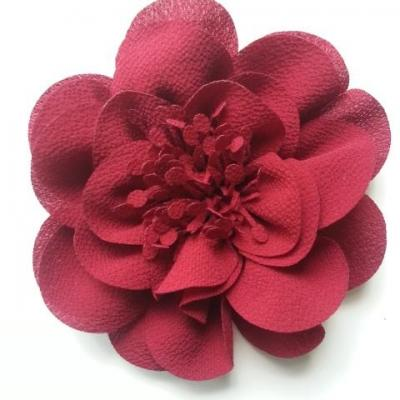 grande fleur mousseline 10cm bordeaux