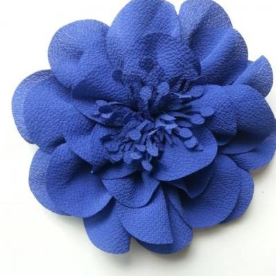 grande fleur mousseline 10cm bleu roi, royal