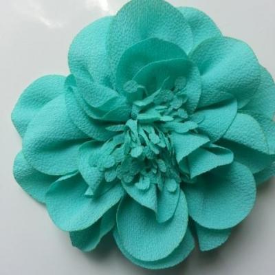 grande fleur mousseline 10cm vert