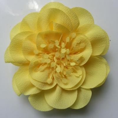 grande fleur mousseline 10cm jaune