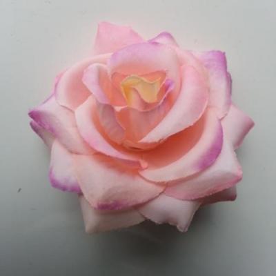 rose artificielle en tissu  de 60mm rose et mauve