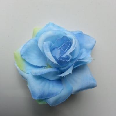 rose artificielle en tissu  de 60mm bleu