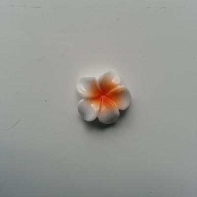 fleur en résine 15mm blanc et orange