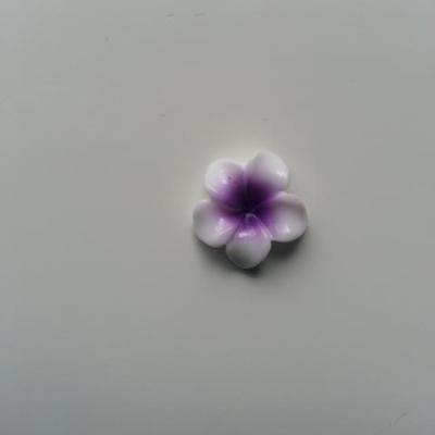 fleur en résine 15mm blanc et violet