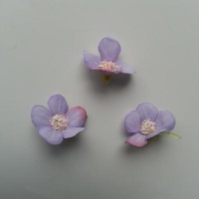 lot de 4 fleurs artificielles en tissu 25mm  mauve