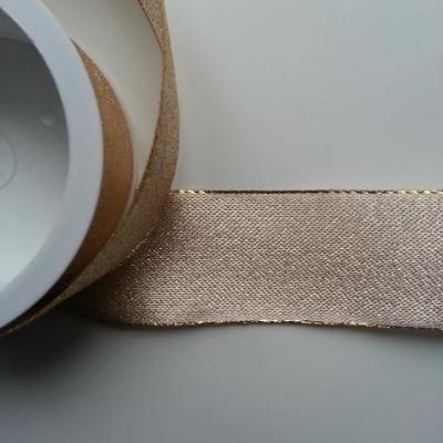 1 mètre de ruban effet métallique doré, or 40mm