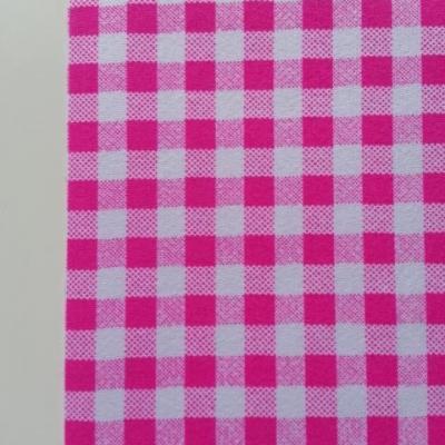 Feuille de tissu autocollant     21*14.5 cm carreaux rose et blanc