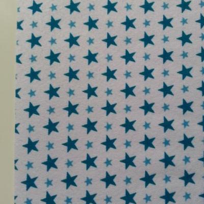 Feuille de tissu autocollant     21*14.5 cm etoiles bleu et blanc