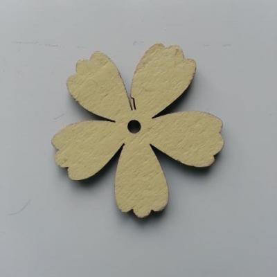 Fleur en bois jaune 35mm (1)