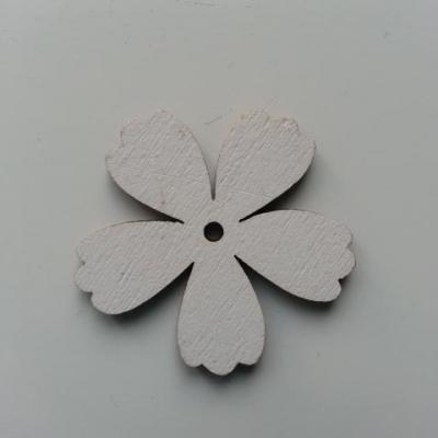 Fleur en bois blanc 35mm (1)