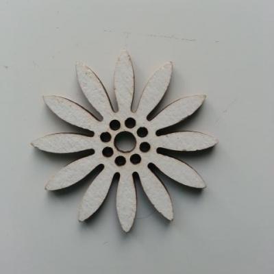 Fleur en bois blanc 35mm (2)