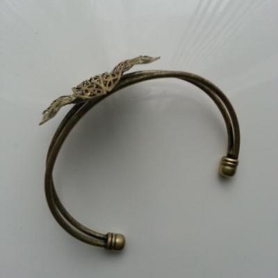 Bracelet métal cuivre fleur filigrane de 42 mm