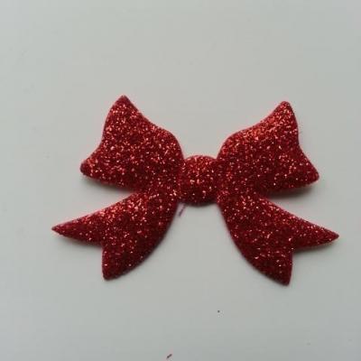 petit noeud pailleté rouge 55*35mm