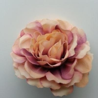 fleur artificielle en tissu beige et prune 55mm