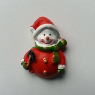 bonhomme de neige pere noel rouge 22*32mm