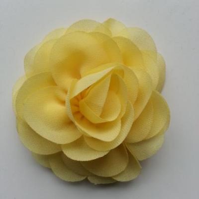 fleur de pavot en mousseline 80mm jaune