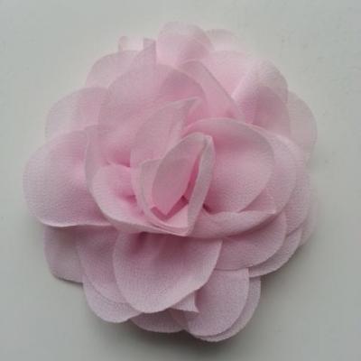 fleur de pavot en mousseline 80mm rose pâle