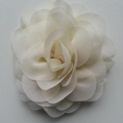 fleur de pavot en mousseline 80mm ivoire