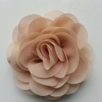 fleur de pavot en mousseline 80mm beige