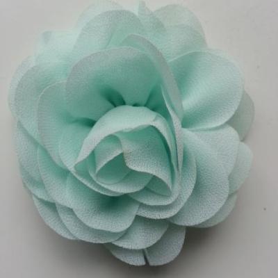 fleur de pavot en mousseline 80mm vert pastel