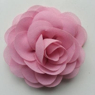 fleur de pavot en mousseline 80mm vieux rose