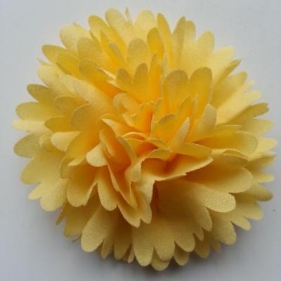 fleur mousseline 90mm jaune