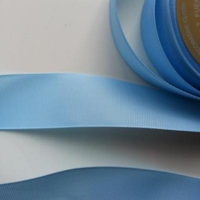 1 mètre de  ruban gros grain  bleu ciel  40mm de largeur