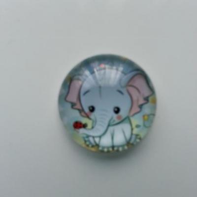 cabochon en verre elephant 20mm (3)