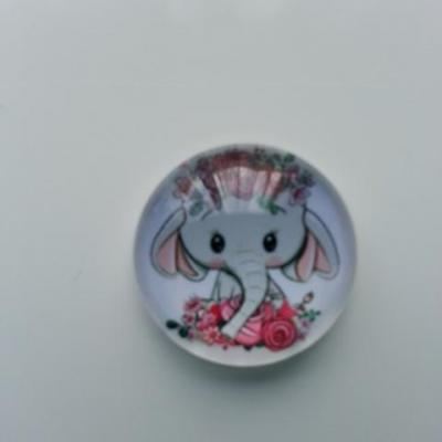 cabochon en verre elephant 20mm (2)