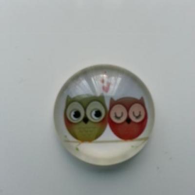 cabochon en verre hiboux / chouettes 20mm (3)