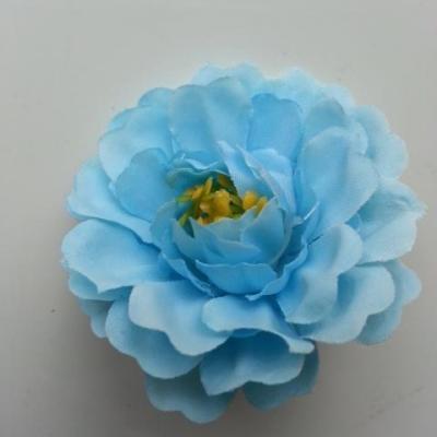 fleur artificielle en tissu et pistils bleu 55mm