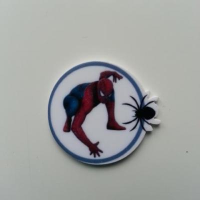 spiderman  cabochon plat en résine 30mm