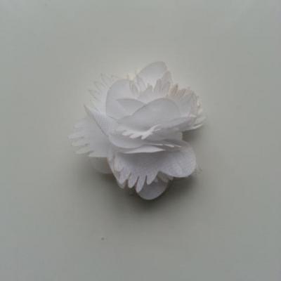 Petite fleur en mousseline 45mm blanc