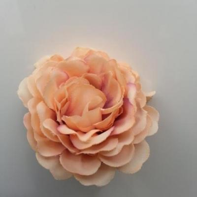 fleur artificielle en tissu peche et prune 55mm