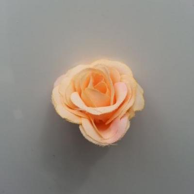 fleur en tissu 35mm pêche