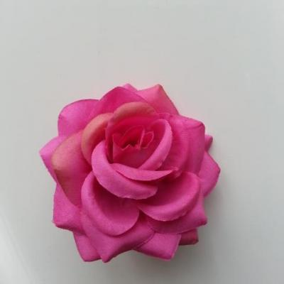 rose artificielle en tissu  de 60mm rose fuchsia