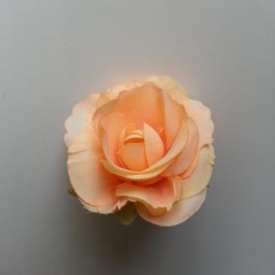 40mm fleur en tissu  peche