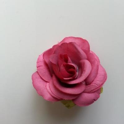 40mm fleur en tissu  vieux rose foncé