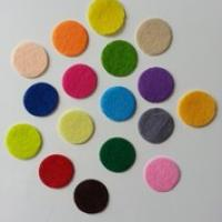 Lot de 5 ronds de feutrine  de couleur 25mm