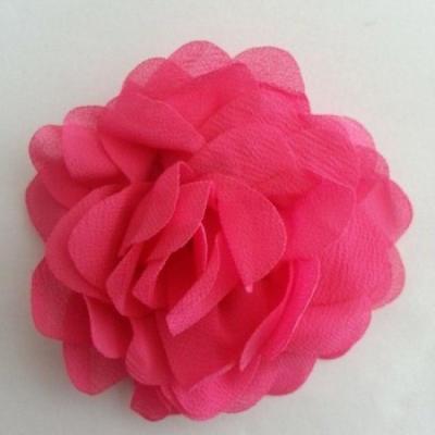 fleur de pavot en mousseline 80mm rose fuchsia