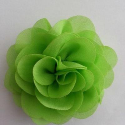 fleur de pavot en mousseline 80mm vert