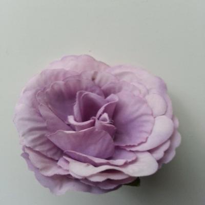 tête de fleur artificielle en tissu 50mm mauve