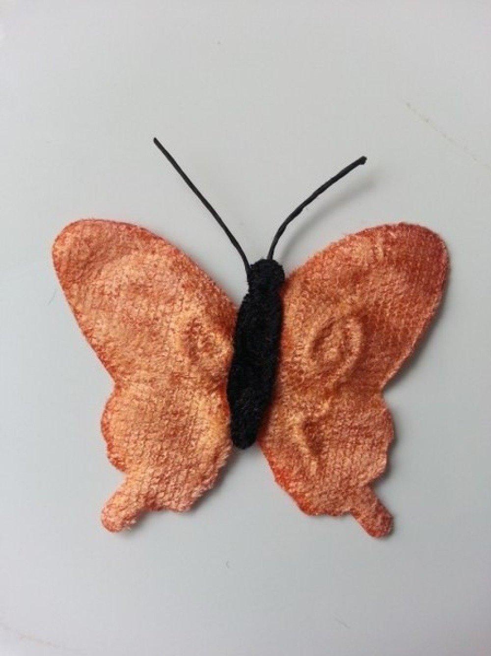 2253119 papillon en tissu peche 50mm 1
