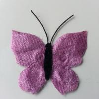 papillon en tissu mauve 50mm