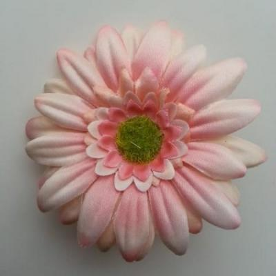 Fleur en tissu marguerite 70mm pêche
